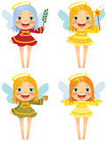 Angel Christmas. Cute angel wishes Merry Christmas Stock Photography