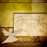 Angel Christmas background with space for writing vector illustration