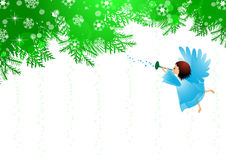 Angel and Christmas background Royalty Free Stock Photos