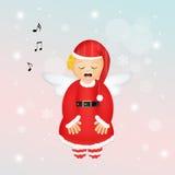 Angel Christmas bonito ilustração royalty free