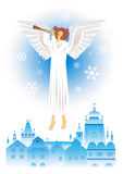Angel of the Christmas City Royalty Free Stock Images