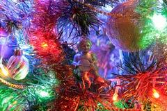 Angel, Christmas decoration and beautiful illumination. royalty free stock images