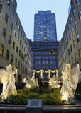 Angel Christmas Decorations at the Rockefeller Center in Midtown Manhattan Royalty Free Stock Photos
