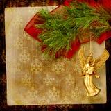Angel christmas hanging Royalty Free Stock Image