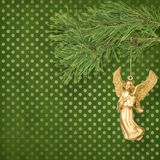 Angel christmas hanging Royalty Free Stock Images