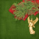 Angel christmas hanging Royalty Free Stock Photos