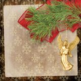 Angel christmas hanging. On the pine branch Stock Photography