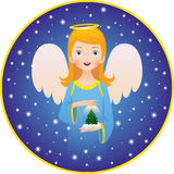 Angel Christmas holidays Royalty Free Stock Image
