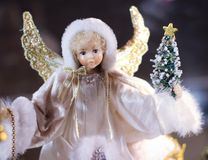 angel Christmas ornament doll figure cute holiday wings Royalty Free Stock Image