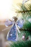 Angel Christmas ornament on tree Royalty Free Stock Image