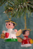 Angel Christmas Ornaments. Hanging on tree Royalty Free Stock Images