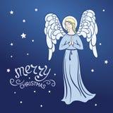 Angel. Christmas Angel prays. Vector illustration royalty free illustration