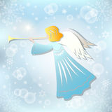 Angel and Christmas star. Stock Images