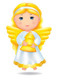 Angel with Christmas Tree Royalty Free Stock Photos