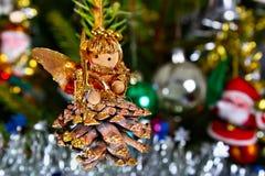 Angel on the Christmas tree Stock Image
