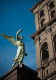 Angel. An angel in the church of Puebla Stock Images