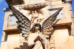 Angel at churchyard in Italian Locorotondo Royalty Free Stock Image