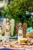 Angel. Clay statue of an angel, folk art, Slovakia Stock Photos