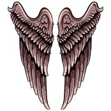 Pair of wings . stock illustration
