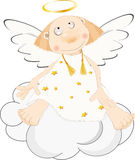 Angel on a cloud Stock Image