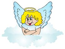 Angel on cloud Stock Photo
