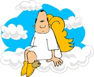 Angel On Cloud 9 Royalty Free Stock Photos
