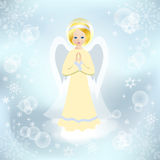 Angel on the cloud. Royalty Free Stock Photo