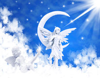 Angel on clouds Royalty Free Stock Photos