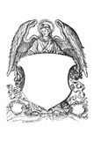 Angel with coat of arms from 16th century royalty free illustration