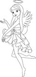 Angel coloring page Stock Photo