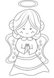 Angel coloring page. Useful as coloring book for kids Stock Photo