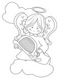 Angel coloring page Stock Photography