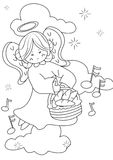 Angel coloring page Royalty Free Stock Photos