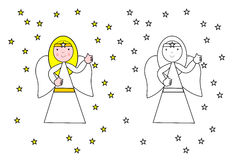 Angel coloring Royalty Free Stock Photography