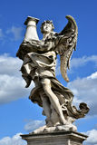 Angel with Column look at the heaven, from Sant'Angelo bridge in Royalty Free Stock Photos