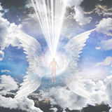 Angel composed of galaxy Royalty Free Stock Image