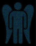 Angel Composition Icon des cercles tramés illustration stock