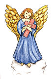 Angel with Cross Royalty Free Stock Photos