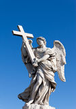 Angel with a cross. A statue of an angel with Cross Royalty Free Stock Photography
