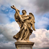 Angel with the Cross on Aelian Bridge in Rome, Italy Royalty Free Stock Images