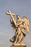 Angel With Cross Stock Photography
