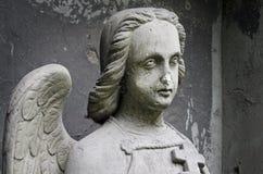 Angel with cross Stock Photos