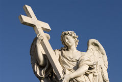 Angel cross horizontal Stock Photo