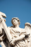 Angel with the Cross, Rome. Angel with the Cross, Ponte Sant'Angelo, Rome, Italy Stock Photography