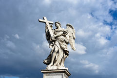 Angel with the Cross. Sant'Angelo Bridge Stock Photography