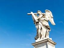 Angel with cross, Sant'Angelo bridge, Rome Stock Photography