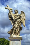 Angel with the Cross statue on the Ponte Sant' Angelo bridge, Rome, Italy Stock Image