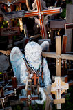 Angel and crosses Royalty Free Stock Photography