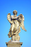 Angel with the Crown of Thorns near Castel Sant Angelo bridge in  Rome, It Stock Photo
