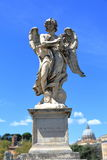 Angel with the Crown of Thorns in Rome, Italy. Royalty Free Stock Image